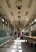 Interior de trem antigo — Fotografia Stock