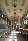 Old Train Interior — Stock Photo