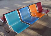 Colorful Modern Bench — Stock Photo