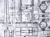Old Blueprints — 图库照片