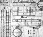 старинные чертежи — Стоковое фото