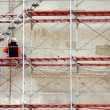 Worker on Scaffold — Stockfoto