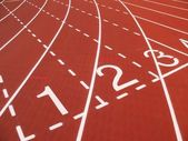 Athletic Track Markings — Stock Photo