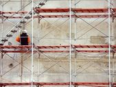 Worker on Scaffold — Foto Stock