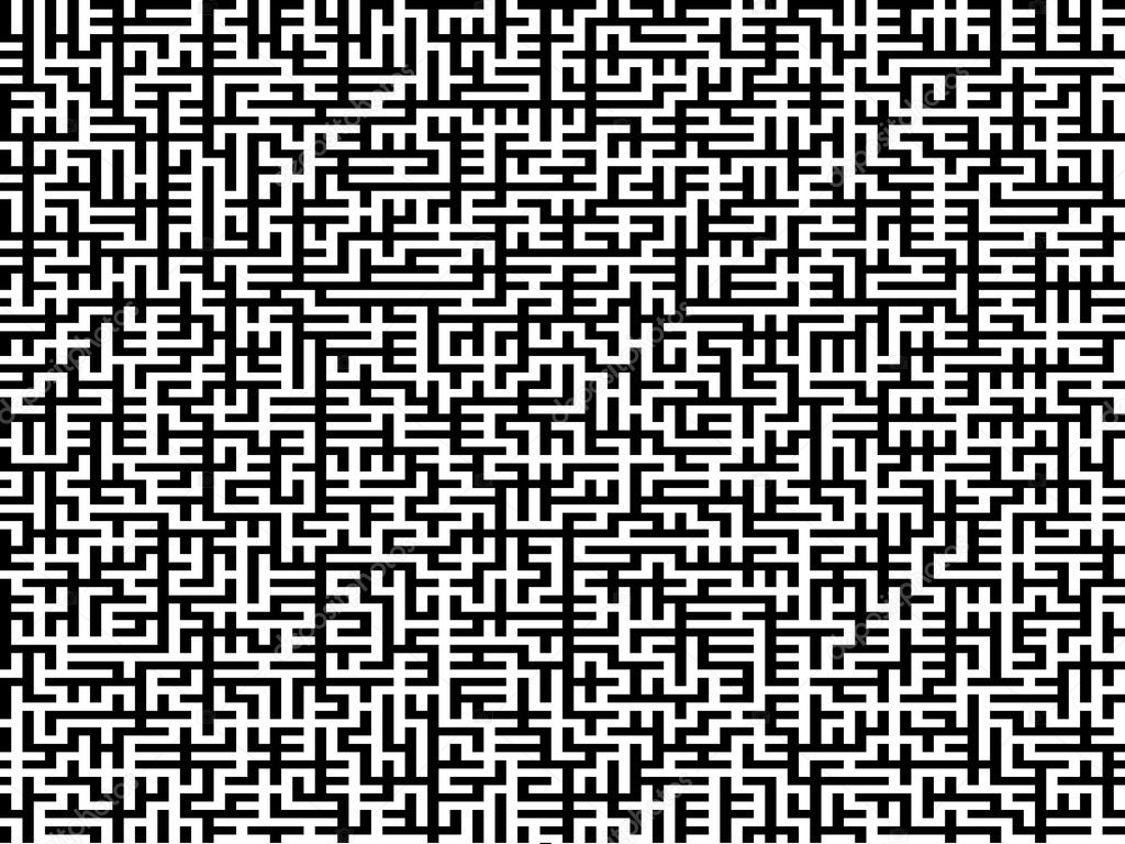 -- an intricate maze with black pattern on white — Stock Photo #1147172