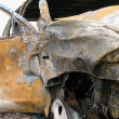 Royalty-Free Stock Photo: Car Wreck Destroyed by Fire