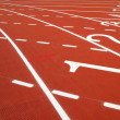 Athletic Running Track — Stock Photo