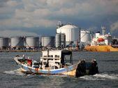 Oil Storage Tanks — Stock Photo