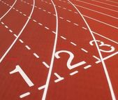 Pista de atletismo al aire libre — Foto de Stock