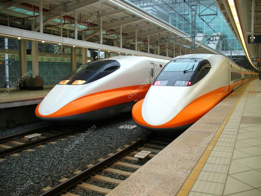 -- two engines of the recently finished Taiwan high speed railway — Stock Photo #1215529