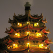 Chinese Pagoda by Night - Foto Stock