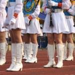 Girls Marching Band — Stock Photo