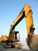 Large Backhoe — Stock Photo