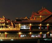 Large Temple by Night — Stockfoto