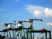 Cranes for Unloading Containers — Stock Photo