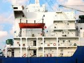 一艘大船的详细信息 — 图库照片