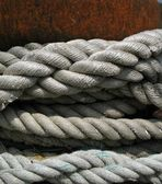 Old Boat Ropes — Stock Photo