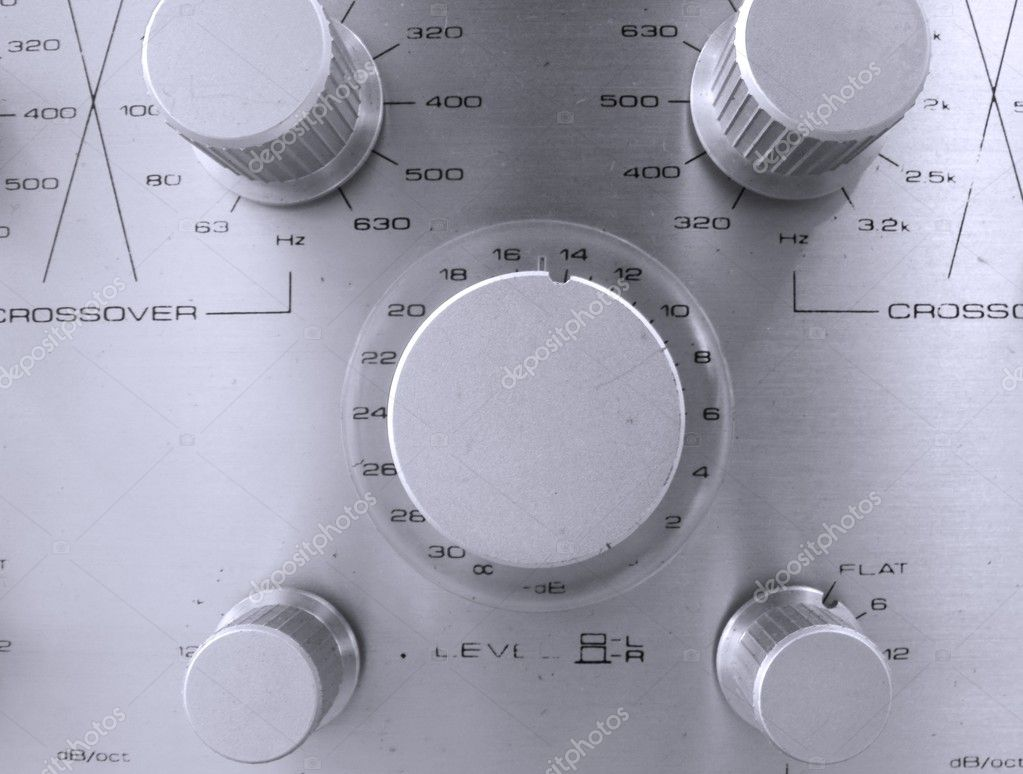-- heavy duty design; with various knobs and dials  Stock Photo #1291262