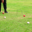 Croquet Player — Stock Photo