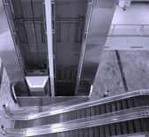 Elevator and Escalator — Stock Photo
