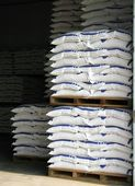Warehouse with Sacks — Stock Photo