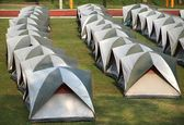 Rows of Tents — Stock Photo