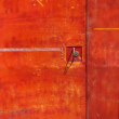 Old Red Iron Door — Stock Photo