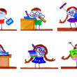 School Days Cartoons — Stock Photo