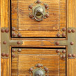 Old Chest with Bronze Corners - Stock Photo
