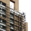 highrise scaffolding — Stock Photo
