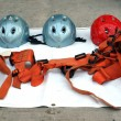 Rappel or Abseil Equipment - Stock Photo