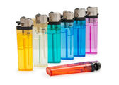 Colored lighters — Stock Photo