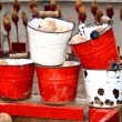 Buckets in a Fair — Stock Photo