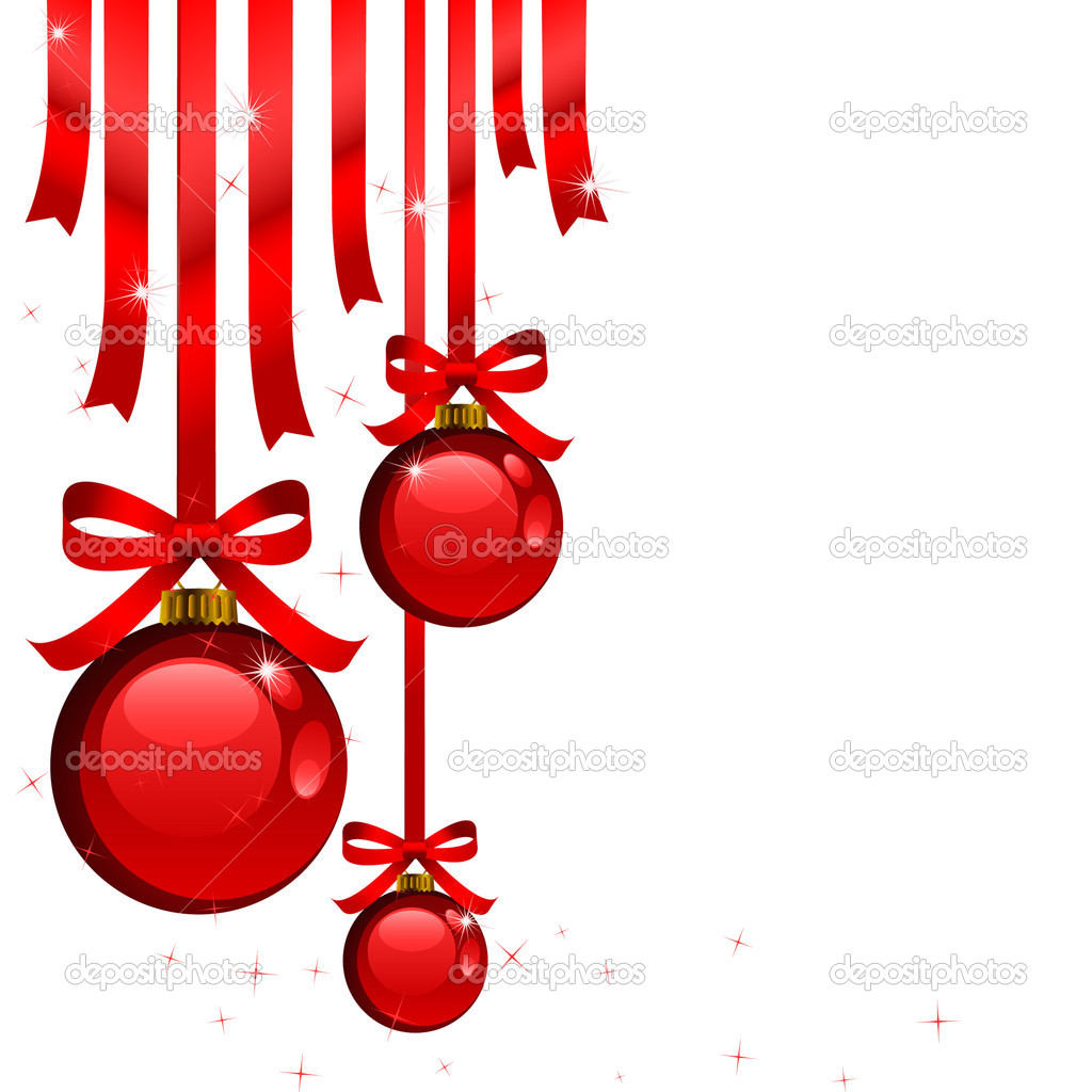 Red christmas decorations stock vector greeek 1086912 for Red xmas decorations