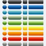 Plastic glass shiny web button (Colored) — Stock Vector #2064462