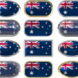 Royalty-Free Stock Photo: Twelve buttons of the Flag of Australia