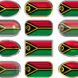 Royalty-Free Stock Photo: Twelve buttons of the Flag of Vanuatu