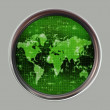 World map radar or sonar — Stock Photo #1196483