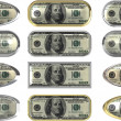 One hundred dollar note buttons — Stock Photo