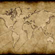 Old grungy world map — Stock Photo #1197304