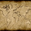 Stock Photo: Old grungy world map