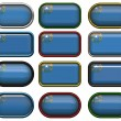 Stock Photo: 12 buttons of the Flag of Nevada