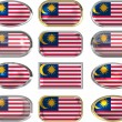 Royalty-Free Stock Photo: 12 buttons of the Flag of Malaysia