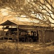 The old farm shed — Stock Photo