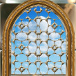 Gothic or scifi window with blue sky — Stockfoto #1197726