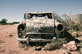 Old car in the desert — Stock Photo