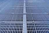 Metal grid walkway — Stock Photo
