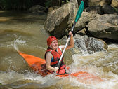 White water kayaking — Stock Photo