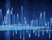 Sound or audio wave — Stock Photo