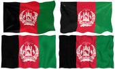 Four flags of afghanistan — Stock Photo